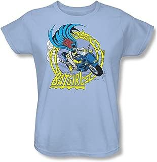 Womens: Batman - Batgirl Motorcycle Ladies T-Shirt Size L