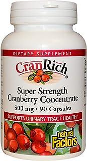 Natural Factors CranRich Super Strength Cranberry Concentrate, 90 Capsules