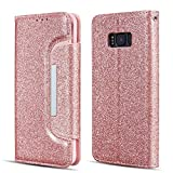 UEEBAI Case for Galaxy S7 Edge, Bling Glitter Case [Big