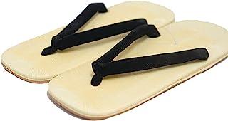 CP [Japón Hecho] Tradicional Zori Setta para Hombre Sandalias Calzado histórico Auténtico Diseño Tangas Black 26.5 cm