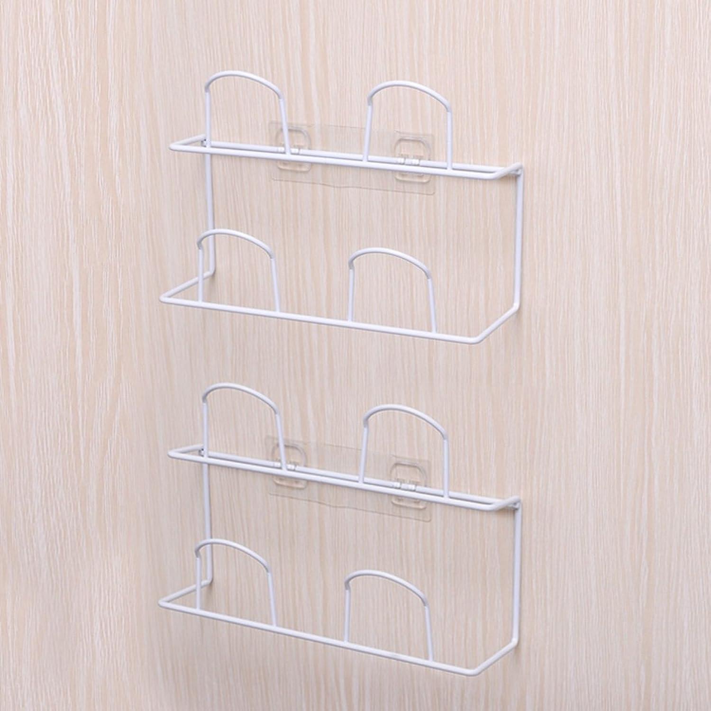 Bathroom Slippers Rack Wall-Mounted Wall Shelves shoes Rack (color   White)