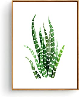Hepix Wall Art Succulent Print Canvas Wall Pictures Snake Plant Wall Decor, Tropical Plant Posters Wall Paintings for Modern Home Living Room Bedroom Office Ready to Hang 13 x 17 inch