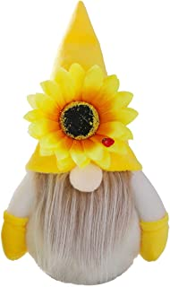 OUZHOU Vår solros bi gnome gul skandinavisk dvärgdocka solros tomte figur plysch gnome leksak docka prydnad vävd docka med...