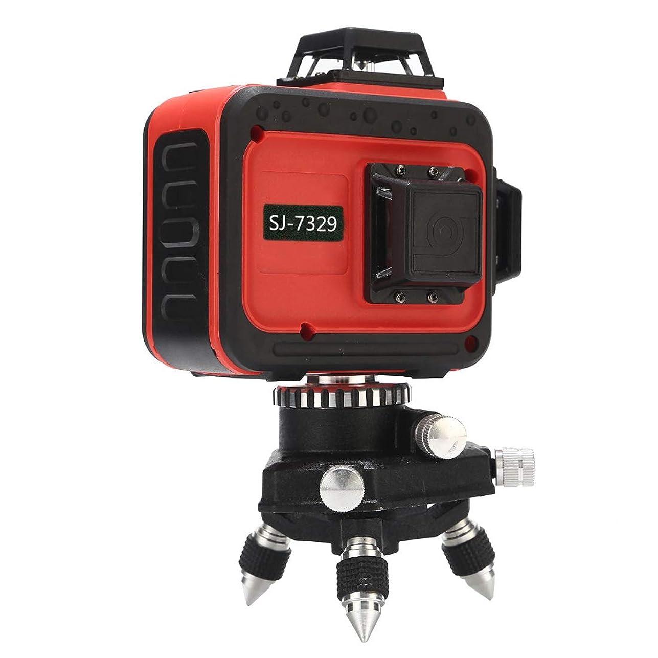 お勧め着服比較的3D LASER 12ライン フルラインイン レッドレーザー墨出し器 SJ-7329 360°垂直*2?360°水平*1イン レッドレーザー墨出し器 レーザーレベル 水平器 メーカー1年保証