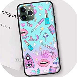 Girly Pastel Witch Goth Black Case for iPhone 11 Pro XR X XS MAX 7 8 6 6S Plus 5 5S SE 5C Silicone Phone Sacs Cover Shell,for Other Models,II-001