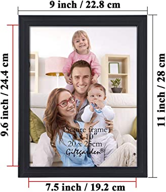 Giftgarden 8x10 Picture Frame Multi Photo Frames Set for Wall Decor or Tabletop Display, 7 Pack, Black