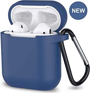 AirPods Case,SATLITOG Protective Silicone Cover Compatible with Apple AirPods 2 and 1(Not for Wireless Charging Case)(Roayl Blue)