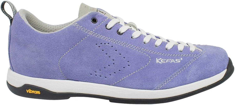 KEFAS - Suede Italian shoes, Vibram Sole + EVA, Globelite purple Crocus 41