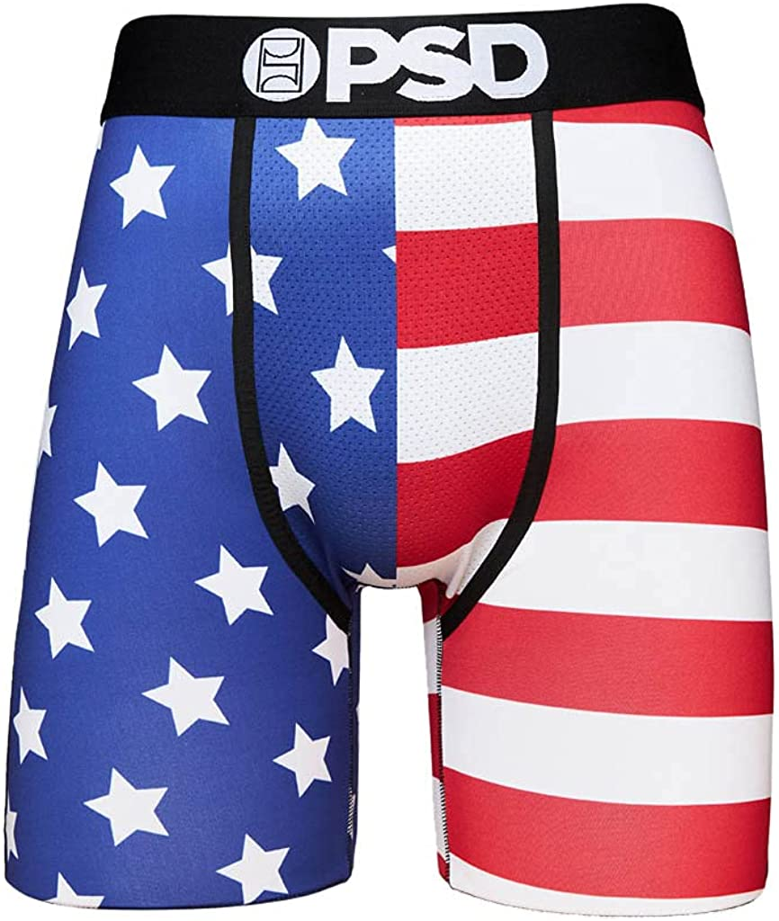 PSD Men's Boxer Brief (Multi/Split Flag, M)