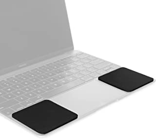 Grifiti Small Slim Palm Pads are Notebook Wrist Rests with Tacky Silicone to Reposition for MacBooks and Laptops with Sharp Edges and Hard Surfaces (2 Small 3 x 2.75 inches Each)