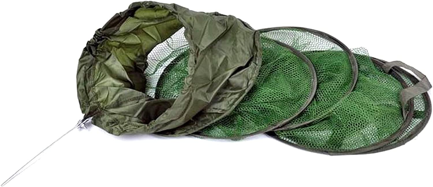 Fishnet Folding glued Fish Fall Live Basket Dip Cage Net Fishing Fixed price for 5 popular sale