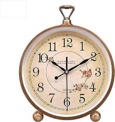 ^Relojes de mesa Relojes de mesa para la sala de estar Decoración Relojes de escritorio