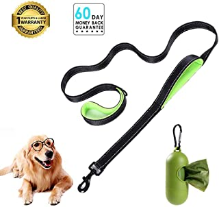 Padded Handle Dog leashes 6ft Long - Traffic Padded 2 Handle - Double Handles Lead for Training Control Leashes - for Large Dogs or Medium Dogs