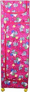 Vouch Plastic Foldable Wardrobe Organizer, D1, 6 Shelves, Pink