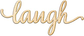 Laugh Script Wood Sign Home Decor Wall Art Unfinished Charlie 18