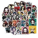 Demon Slayer Sticker Pack Set, Waterproof Laptop Car Skateboard Snowboard Water Bottles Decals Stickers - 50PCS Kimetsu no Yaiba Anime Stickers (1)