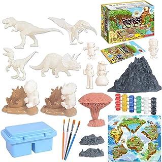 Licogel Dinosaur Craft Kit DIY Interactive Plastic Funny Dinosaur Toy Set for Kids Educational Plastic