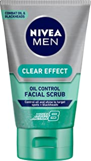 NIVEA MEN Clear Effect Oil Control Facial Scrub, 100ml