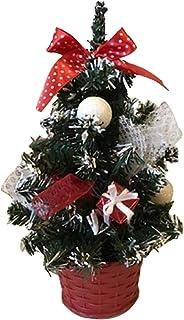 ZHappy クリスマスツリー 高さ20cm 置物 ミニ ツリーの飾り 立派 北欧風 机の上 飾り付け 高級クリスマスツリー はなやか スリム デザイン ツリー 可愛い イルミネーション レッド ブルー