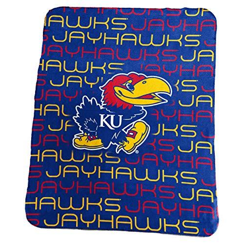 Logo Brands NCAA Kansas Jayhawks Classic Fleece, One Size