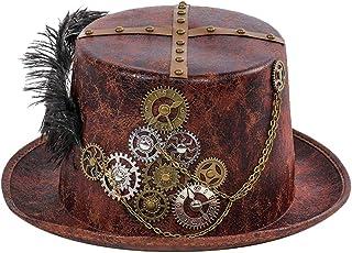 Toyvian Steampunk Hat Feather Gear No Tejido Decorativo Top Tocado para Disfraz Cosplay Prop Masquerade Party Dress up