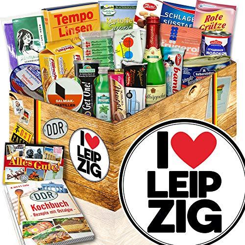 I love Leipzig / Geschenk Leipzig / DDR Spezialitäten Box DDR