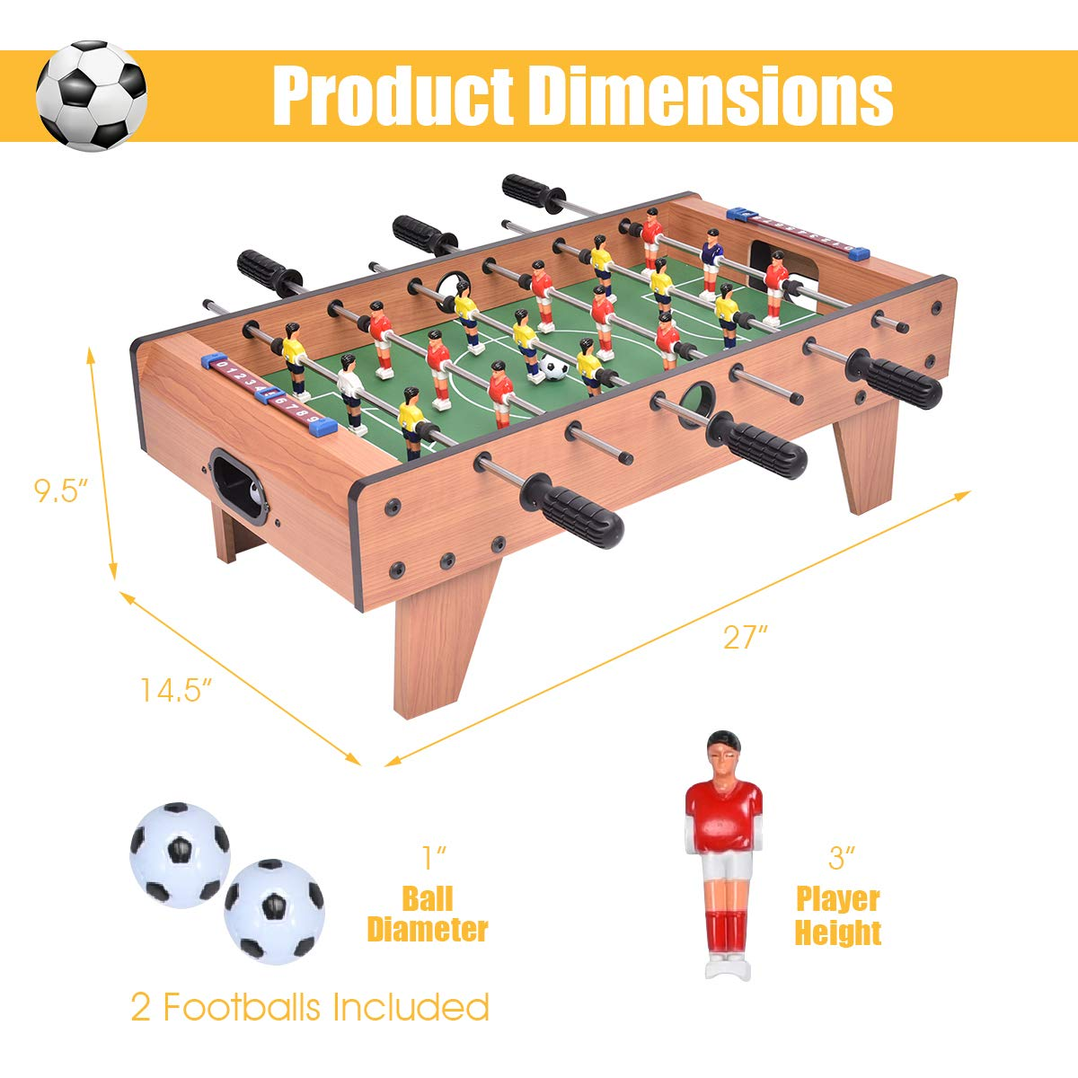 7. The Giantex 27-inch Foosball Table