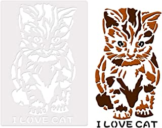 Ronshin Home 1PC Hollow Out Stencils Animal Graffiti Painting Template 75083