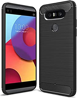 LG Q8 Case, LG V20 Mini Case, Sucnakp TPU Shock Absorption Technology Raised Bezels Protective Case Cover for LG Q8 Smartphone(TPU Black)