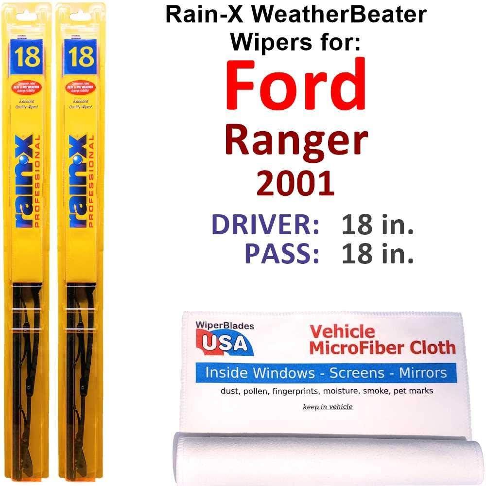 Rain-X WeatherBeater Wiper Blades for Set Ford Rain- Ranger 5% OFF Manufacturer OFFicial shop 2001