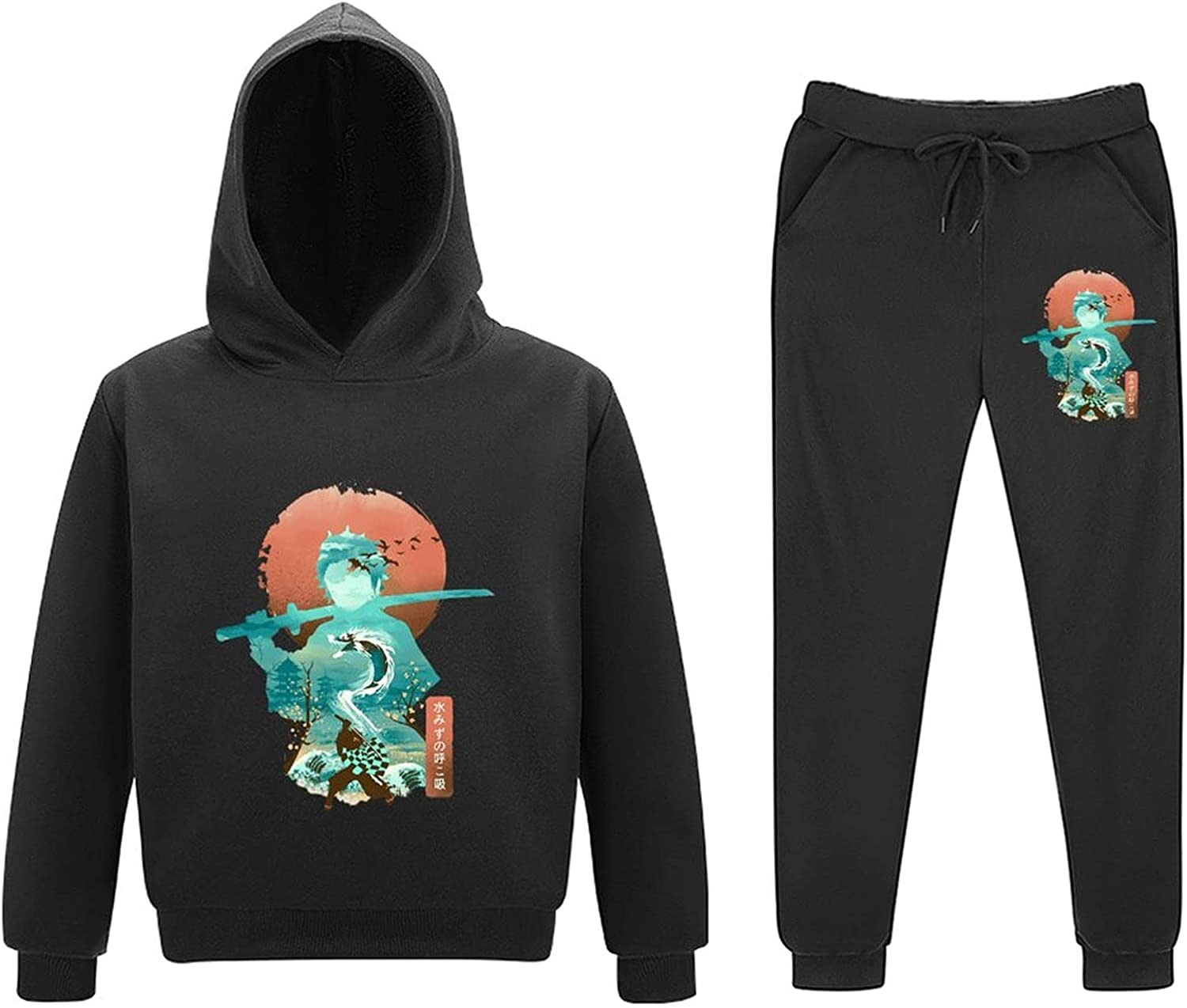 5-11Y Dem-on Slayer Kids Toddler In stock 2 Outfits Free shipping Piece Sweatsuits Pull