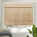 LETAU Wood Window Shades Blinds, Bamboo Light Filtering Custom Roman Shades, New Pattern 9