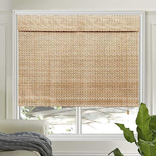 LETAU Wood Window Shades Blinds, Bamboo LightFilteringCustom Roman Shades, New Pattern 9