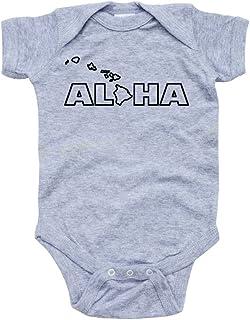 4075341a5aebf7 Apericots Aloha Hawaii Hawaiian Cute Baby Handmade Quality Fun Unisex  Bodysuit