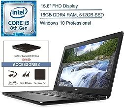 """$979 » 2020 Dell Latitude 3500 15.6"""" FHD Business Laptop Computer, 8th Gen Intel Quad-Core i5-8265U (beat i7-7500U), 16GB DDR4 RAM, 512GB SSD, 802.11ac WiFi, Windows 10 Pro, EST USB External DVD+ Accessories"""