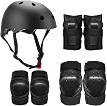Lixada Kids Full Protection Gear Set 7 in 1 Skateboard Skate Helmet Pad Set with Knee Pads Elbow Pads Wrist Pads for Youth...