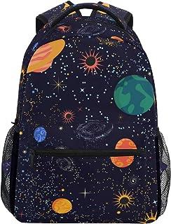 Mochila escolar bolsa portátil bolsas de viaje para niños, niñas, mujeres, hombres, planeta, estrellas, luna, sol, galaxia, universo espacial
