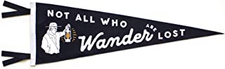 Oxford Pennant Not All Who Wander are Lost Pennant Original