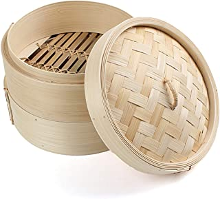 8 inch Bamboo Steamer (Set - 2 racks and 1 lid)