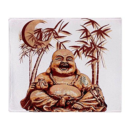 CafePress Riyah Li Designs Happy Buddha Throw Blanket Soft Fleece Throw Blanket, 50'x60' Stadium Blanket