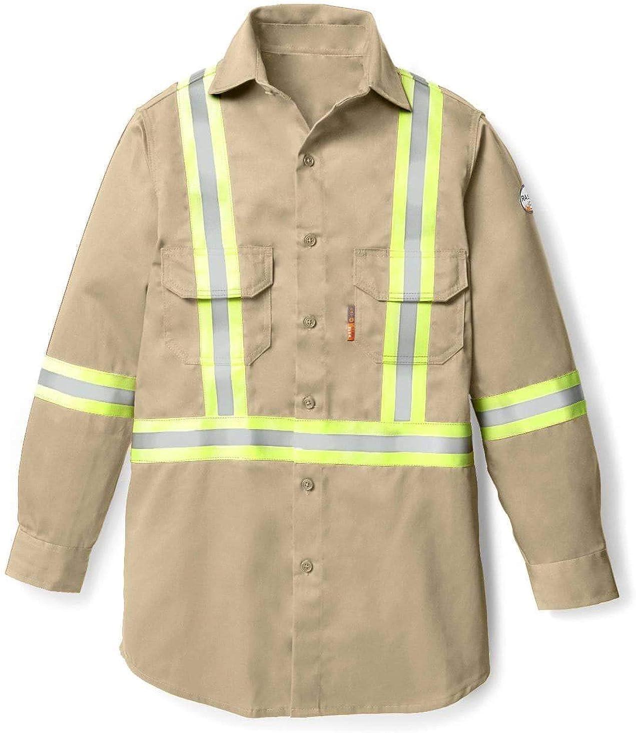 Rasco FR Men's Uniform Shirt with Reflective Trim