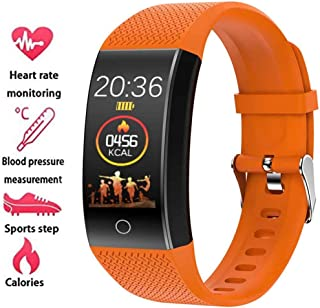 YUN Clock@ Unisexo Fitness Tracker Medición Termómetro con Pulsómetro Y Presión Arterial GPS Impermeable IP67 Modo Multideportivo Podómetro Reloj Inteligente Rechazar Llamada Podómetro