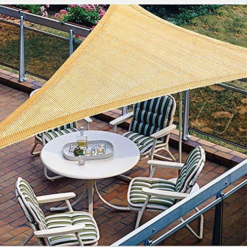 YUDEYU Filet D'ombrage Protection/Isolation Solaire Balcon Patio Refroidissement De L'usine Carré Triangle, Personnalisable (Color : Beige, Size : 3x3x3m)