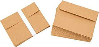 """Darice A2 Kraft Paper Blank Cards and Envelopes (50 Sets) – Perfect for DIY Invitations, Cards, Notes and More – Ready to Decorate or Run Through Printer – Card 4.25""""x5.5"""", Envelope 4.37""""x5.75"""""""