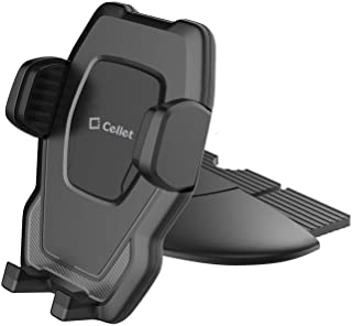 Cellet CD Slot Phone Holder, Cradle Mount with Three-Side Grips and One-Touch Design Compatible for One Plus OnePlus 3/3T/5/5T/6/6T, Asus ZenFone 5z/V/V Live/5Q/AR, Google Pixel 3, 3XL/2/2XL/1/XL