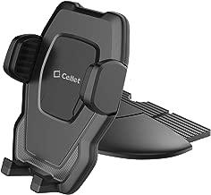 Cellet Universal CD Slot Smart Phone Holder, Cradle Mount with One-Touch Design Compatible for Apple iPhone Xr Xs Max Xs X SE 8 Plus 8 7 Plus 7 6S Plus 6S 6 Plus 6 5S 5C 5 4S 4 3GS 3G iPod Touch Nano