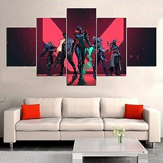 5 piezas Valorant Video Game Poster pintura al óleo sobre lienzo con decoración para el hogar decoración de la sala de estar(size 1)