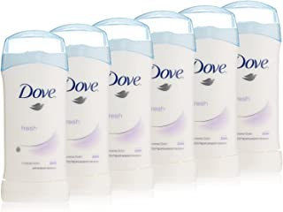 Dove Invisible Solids, Fresh 1.6 Ounce Stick (Pack of 6)
