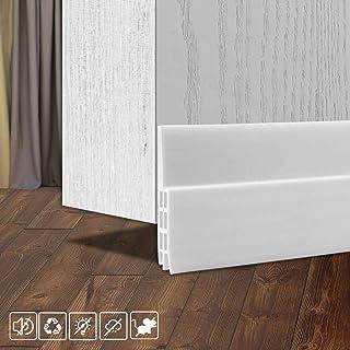 """Suptikes Door Draft Stopper Under Door Seal for Exterior/Interior Doors, Door Sweep Strip Under Door Draft Blocker, Soundproof Door Bottom Weather Stripping, 2"""" W x 39"""" L, White"""
