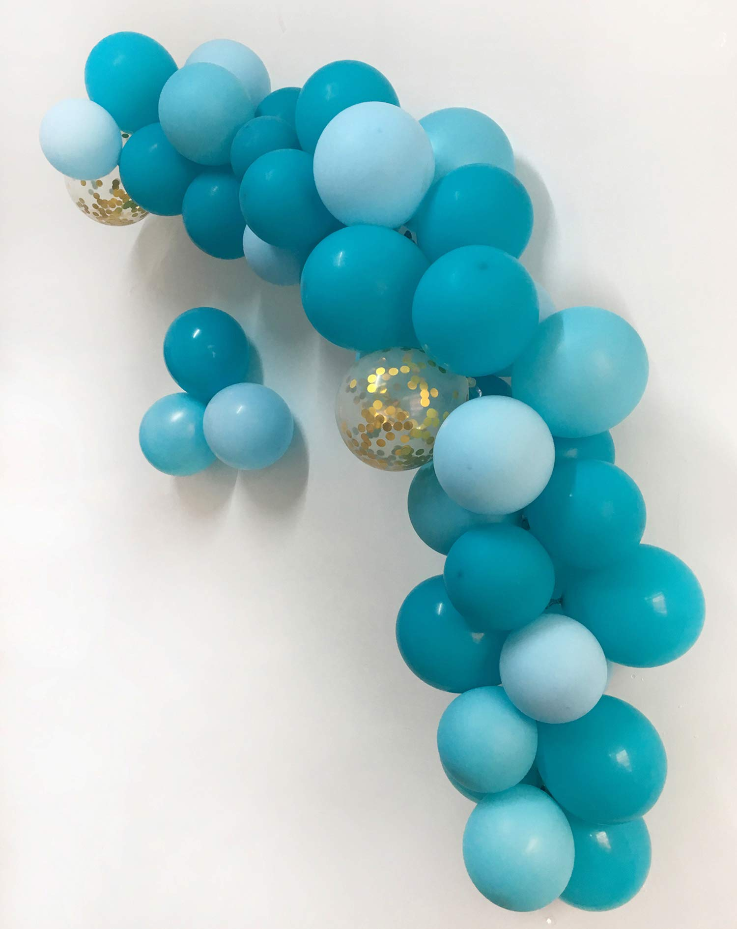 Balloon Arch Kit Balloon Garland Kit–Wedding Bachelorette Birthday Anniversary Party Decorations Backdrop Décor (Balloon Garland kit Turquoise Blue)